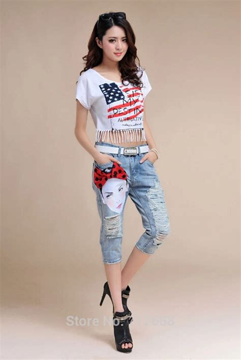colorful  fancy capris collection  trendy girls