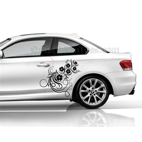 bmw 1 series car sticker side decal flower car sticker girly car stickers