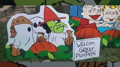 Its The Great Pumpkin Charlie Brown Lawn Art Plywood