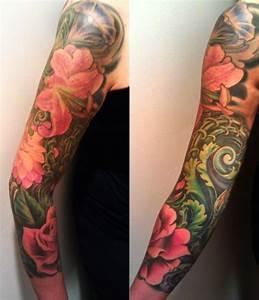 floral sleeve   taste of ink   Pinterest