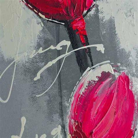 peinture de fleur sur feuille alu    cm wikao