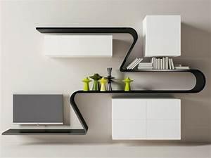 Etagere Salon Design : tag re murale la modernit en quelques exemples ~ Teatrodelosmanantiales.com Idées de Décoration