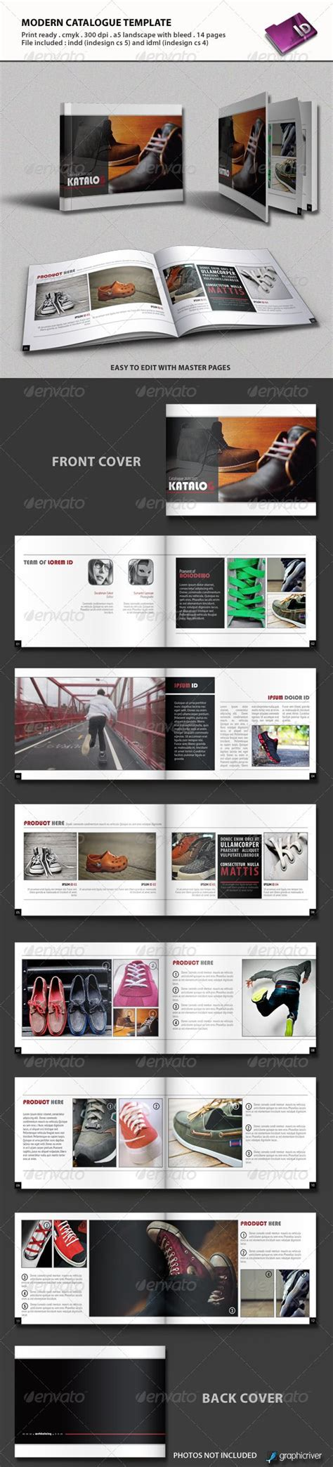 modern catalogue template  images indesign