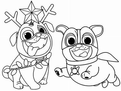 Pals Puppy Coloring Dog Pages Rolly Bingo