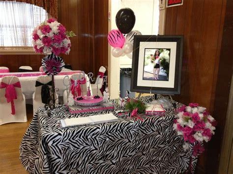 quinceanera zebra pink decoration ideas seshalyn s ideas quienceanera ideas for