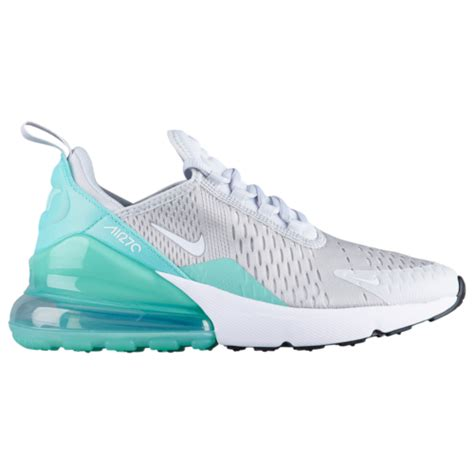 nike air max  girls grade school casual shoes pure platinumwhiteemerald rise