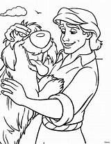 Coloring Prince Eric Disney Popular Soul sketch template