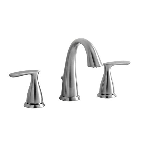 Bathroom Sink Faucets Lowes by Shop Aquasource Brushed Nickel 2 Handle Widespread