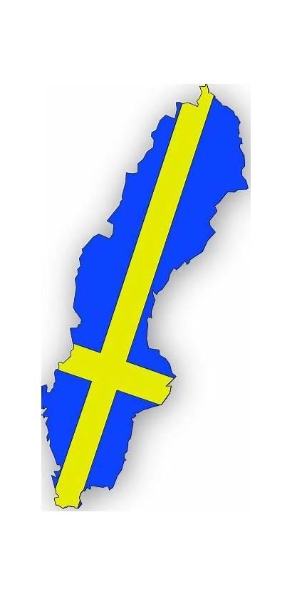 Sweden Flag Map Clip Vector Swedish Clipart