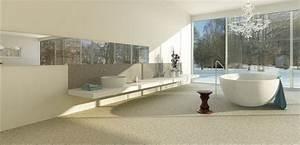 steinteppich bad bodenbelag bodenbelage steinteppiche With balkon teppich mit tapeten badezimmer beispiele