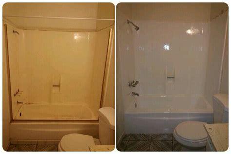 reglaze fiberglass bathroom makeover