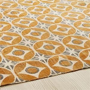 Tapis En Coton : tapis en coton jaune moutarde 140x200cm blocalia maisons ~ Nature-et-papiers.com Idées de Décoration