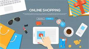 Design Online Shop : online shopping banner with bags and icons stock photo ~ Watch28wear.com Haus und Dekorationen