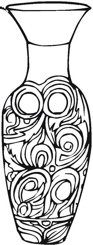 Vase Color by Vase Pottery Coloring Page