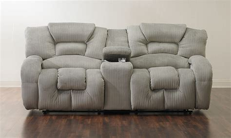 loveseat recliner with console cloud 9 reclining loveseat w storage console the dump
