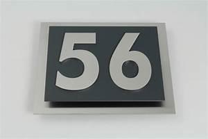 Hausnummer Ral 7016 : hausnummer edelstahl anthrazit im modernen design max 4 stellig ~ Frokenaadalensverden.com Haus und Dekorationen
