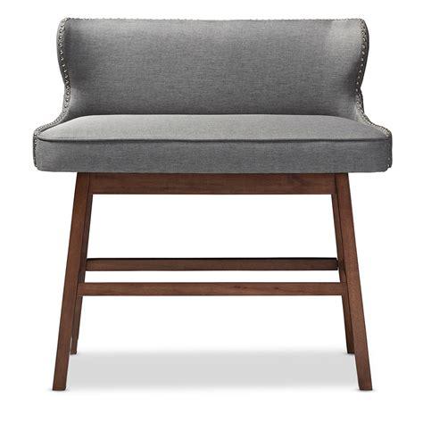 bench and bar baxton studio gradisca modern and contemporary grey fabric