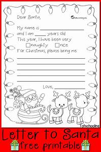 free letter to santa printable totschooling toddler With write a letter to santa for kids