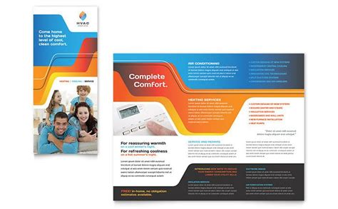 hvac brochure template design  stocklayouts projects