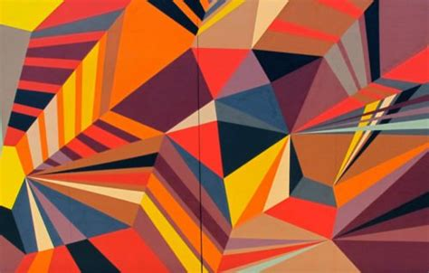 Abstract Painting Using Shapes by Colorful Geometry Murals Matt W Arch2o