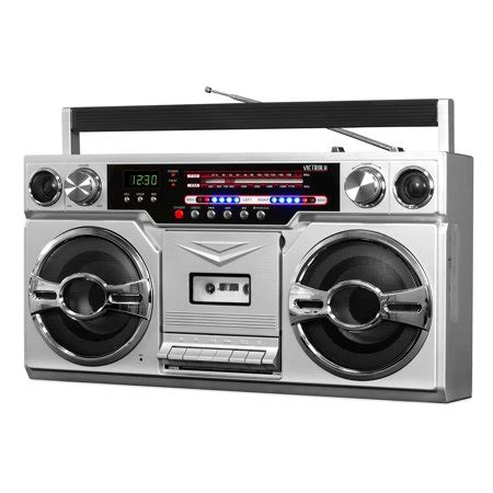 victrola  bluetooth boombox  cassette player