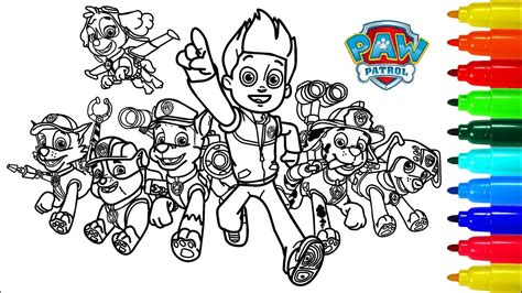 PAW PATROL Dragon Coloring Book Colouring Pages for Kids