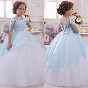 2017 little princess toddler pageant dress lace appliques With infant wedding dresses