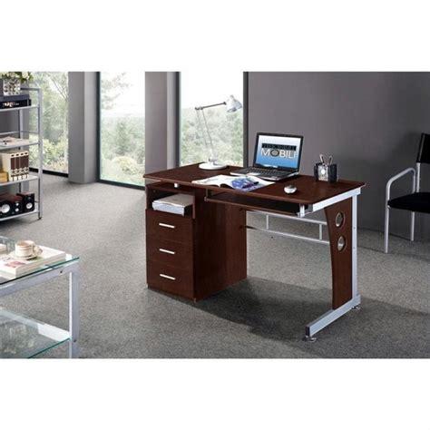 techni mobili computer desk techni mobili laminate computer desk in chocolate rta
