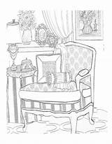 Coloring Pages Books Adult Colouring Interior Printable Printables Lighthouse Chair sketch template