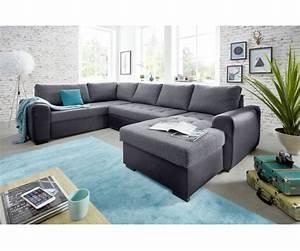 Sofa U Form Grau : molly 3s 2f rec bk grau couchgarnitur sofa wohnzimmercouch ecksofa u form 206x312x157 cm ~ Markanthonyermac.com Haus und Dekorationen