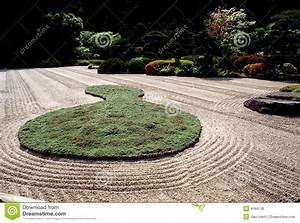 Japanischer Zen Garten In Oregon Stockbild Bild Von