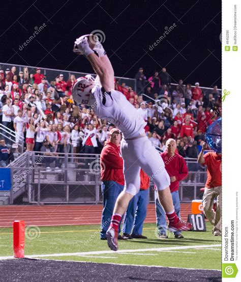 friday night lights audiobook high football touchdown catch editorial image