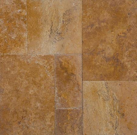 golden sienna travertine tile brushed tumbled