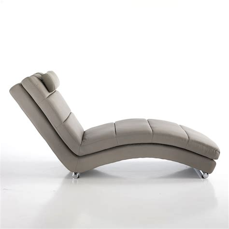 modern design faux leather chaise longue beatrice dove