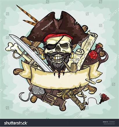 Pirate Skull Vector Shutterstock Pirates Illustrations Space