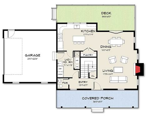 Open Concept Floor Plan by Exclusive Farmhouse Plan With Open Concept Living