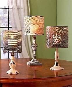 25 best ideas about shabby chic lamps on pinterest With kitchen colors with white cabinets with partylite candle holders retired