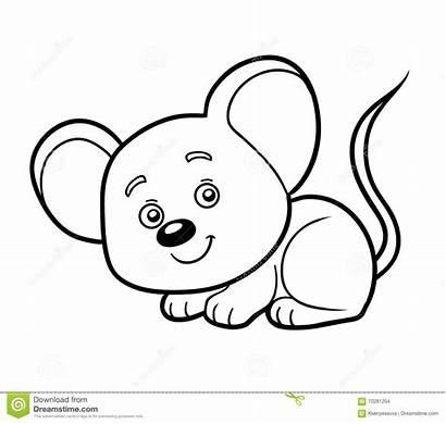 Topo Colorare Souris Rato Coloriage Mouse Coloring