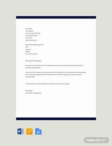 Free Part-time Job Resignation Letter Template