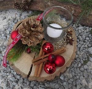Weihnachtsdeko Draußen Basteln : weihnachten advent holz gesteck teelicht auf holzscheibe ~ A.2002-acura-tl-radio.info Haus und Dekorationen