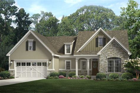 Inviting 3 Bedroom Open Concept Craftsman Ranch Home Plan