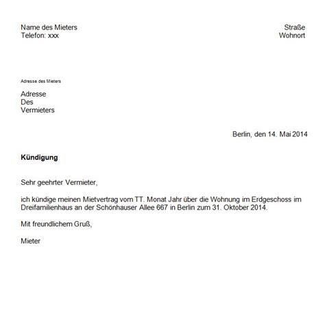 Kündigung Mietvertrag Vorlage Mieterbund by Vordruck K 252 Ndigung Mietvertrag K 252 Ndigung Vorlage Fwptc