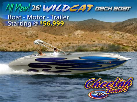 Cheetah Boats by 2010 Cheetah Boats 26 Wildcat Deck Boat Powerboat For Sale