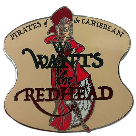 your wdw store disney pirates of the caribbean pin we wants the red head