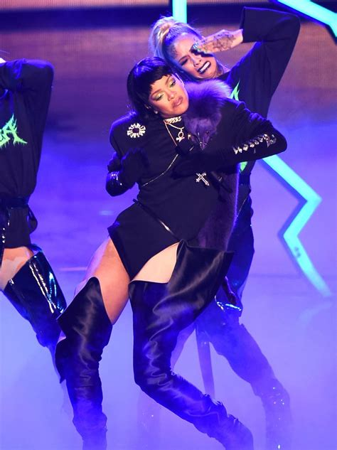 Rihanna takes to the stage for the third and final time as ...