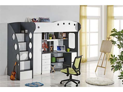 lit mezzanine 1 place avec bureau conforama lit mezzanine 90x190 cm coloris blanc gris vente