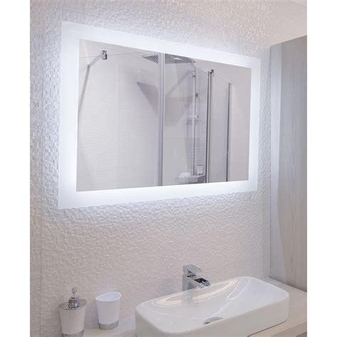 miroir salle de bain avec eclairage miroir de salle de bains avec 233 clairage led mod 232 le cajam 60 80 cm x 60 cm hxl salle de
