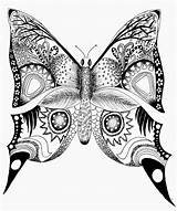 Butterfly Coloring Pages Printable Drawing Mandala Butterflies Printables Drawings Adult Adults Animals Animal Abstract Easy Simple Painting Colouring Sheet Related sketch template