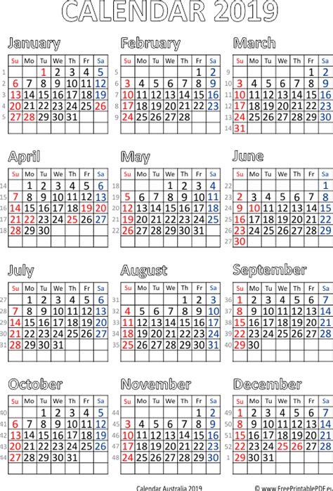 calendar australia printable printable