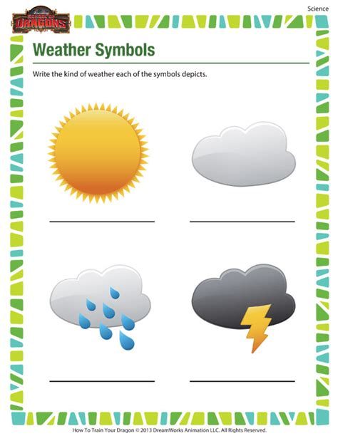 new 689 first grade science worksheets on weather